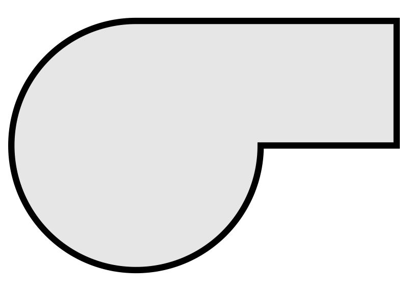 stolové desky: tvar 'b'