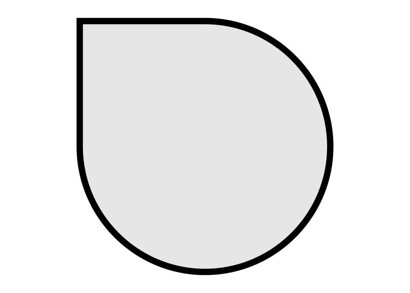 stolové desky: kapka